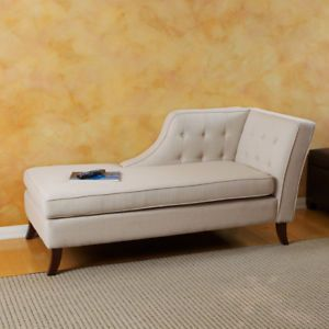 Luxury Linen Fabric Upholstery Chaise Lounge Chair Sofa