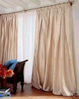Chris Madden Mystique Silk Drape Panels Ivory 100 x 84