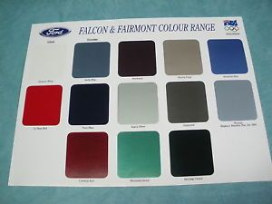 Ford Falcon Fairmont Colour Chart