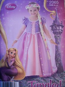 Simplicity 2065 Disney Rapunzel Tangled Costume Sewing Pattern Uncut Size 3 8