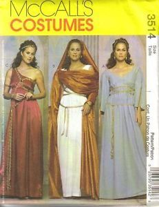 McCalls 3514 Pattern Misses Greek Roman Costumes 6 12
