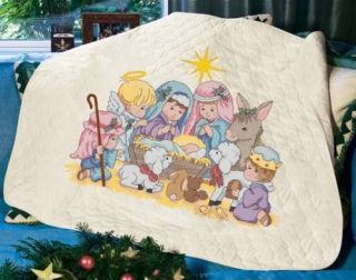 Dimensions Nativity Quilt Stamped Cross Stitch Kit
