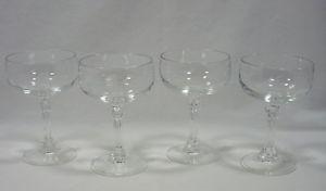 4 Princess House Bordeaux Crystal Champagne Dessert Glasses Stemware Heritage