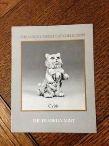 Franklin Mint Curio Cabinet Cat Collection Cybis Booklet Only No Figurine