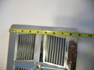 Vintage Berns Air King Chrome Louvered Exhaust Fan Cover Kitchen Trailer