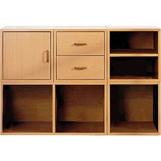 Foremost Holdems 5 in 1 Modular Cube Storage System Kit, Honey Oak
