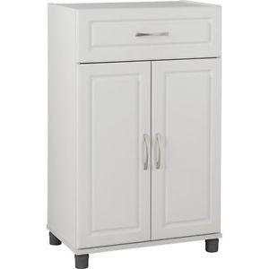 Storage Cabinet White Kitchen Dining Room Bathroom Garage Furniture Office Study