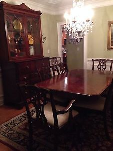 ... Lexington Furniture Palmer Collection Dining Room Table And China  Cabinet ...