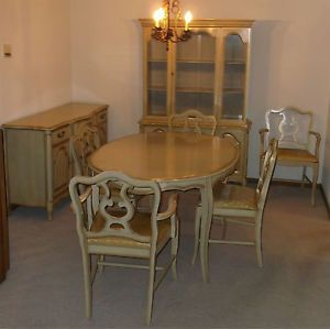 ... Mid Century French Provincial Dining Room Set By Blowing Rock Furniture  G Bisque ...