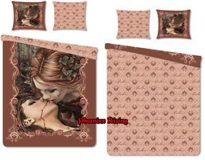 Victoria Frances The Kiss Vampire Girl Gothic Bedding Set Duvet Pillow Cover