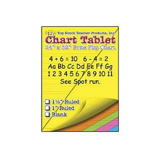 Top Notch Teacher Products 32 x 24 Large Chart Tablet, Blank