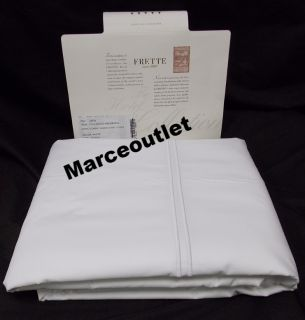 Frette Hotel Classic Egyptian Cotton Queen Duvet Cover White White Embroidery