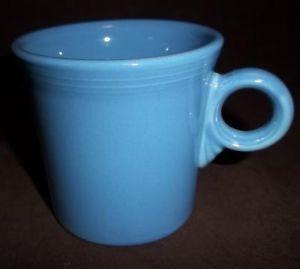 "Periwinkle Blue Fiesta Ware Tom Jerry Mug ""O"" Handle"