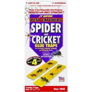 JT Eaton 844 Pest Catcher Spider and Cricket Glue Trap 4 Pack Insect Attractant