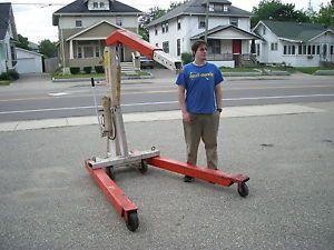 Power Team 4400 lb Mobile Floor Crane Portable Hoist Cherry Picker
