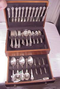 Gorham Chantilly 96 Piece Sterling Silver Flatware Set
