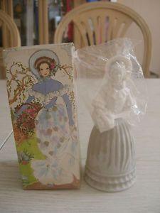 Vintage Avon Fashion Figurine Victorian Decanter Bottle with Box Full