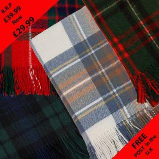 Scottish Gift Blankets 100 Pure Wool Tartan Plaid Throw Rug New Designs