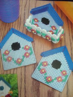 Summer Houses Coaster Set Plastic Canvas Pattern Only