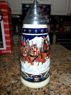 The Budweiser Clydesdales Lidded Stein