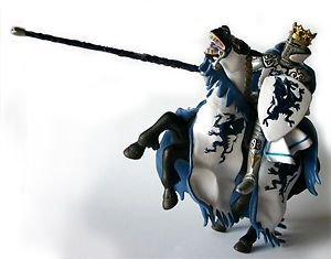 New Papo 39389 Blue Dragon Knight King 39387 Rearing Horse Model Figurines