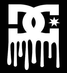 "Cool ""Paint Dripping"" DC Shoes Accessories Decal"