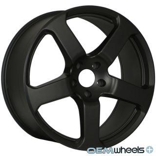 "22"" Matte Black Wheels Fits Porsche Cayenne Audi Q7 VW Touareg TDI Quattro Rims"