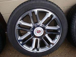 Cadillac Escalade ESV Ext 22 Wheels Tires Factory OEM Genuine GM Platinum New