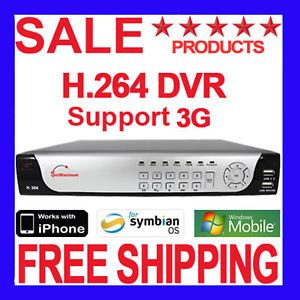 4 CH Channel H 264 CCTV Real Time Standalone DVR iPhone