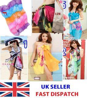 Women Ladies Sexy Large Wrap Dress Sarong Beach Soft Cover Up Scarf Swimwear