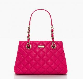 Kate Spade Gold Coast Small Maryanne Quilted Pink Leather Shoulder Bag NWT