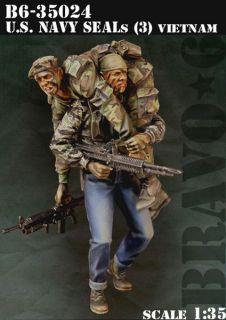 1 35 Scale Resin Figure Kit U s Navy Seals 3 Vietnam '68 35024