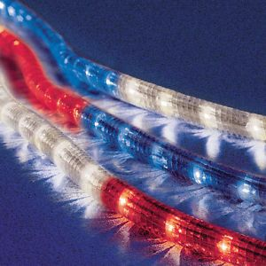 Celebrations Red White Blue Rope Light 18' Feet Long 216 Mini Lights