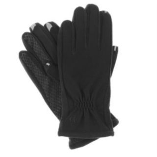 New Women's Isotoner Smartouch Touchscreen 2 0 Nylon Gloves Black x Small Small