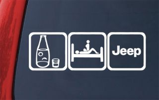Beer Sex Jeep Decal Sticker Wrangler Cherokee JP Grand You Choose Color