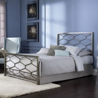 Full Size Contemporary Metal Bed Frame with Headboard and Footboard