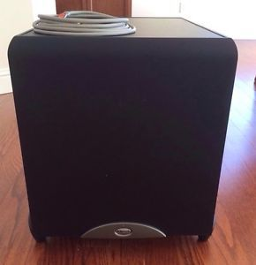 Klipsch KSW 12 Powered Subwoofer with 12 Foot Monster Cable 090449071211