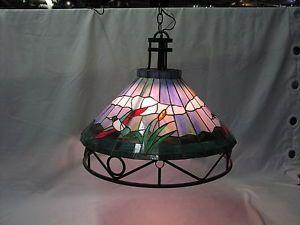 "Mallard Stained Glass Chandelier Pendant Lamp Shade 21"" Wide"
