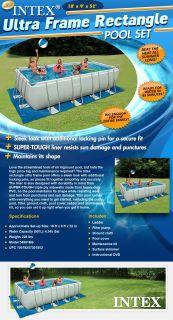 "18' x 9' x 52"" Intex Rectangle Ultra Frame Above Ground Swimming Pool Set"