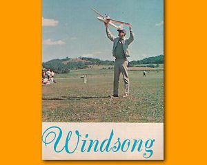 R C Glider Plan Windsong 049 Powered RC Glider Model Airplane Plans