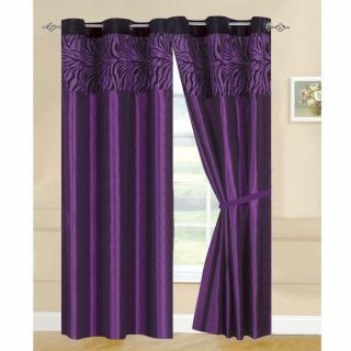 "2pcs 58"" x 84"" Kelly Blackout Grommet Curtains Panels Window Coverings Purple"