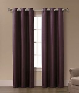 Isabelle Plum 2 Panels Grommet Top Curtain Set Brand New