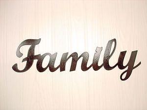 Metal Wall Art Home Decor Family Word Art