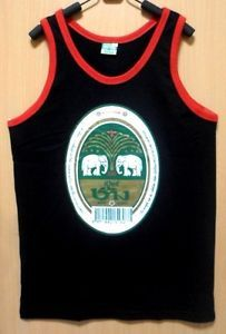 Chang Beer Logo Men Screen Vest Black Size L Muay Thai Boxing Series of Exercise