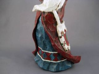 Old World Santa Claus Wood Candle Holder Figure Statue Christmas Ornament Decor