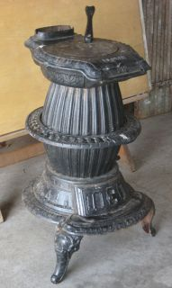 Antique Florin Pot Belly Stove Cast Iron Coal Wood Heater 212 Pick Up in PA