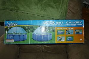 Quick Set Canopy 14ft 15ft 16ft Frame Pool Cover Summer Escapes Intex