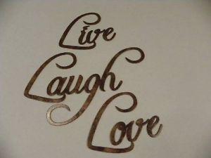 Live Laugh Love Words Fancy Decorative Metal Wall Art Home Decor