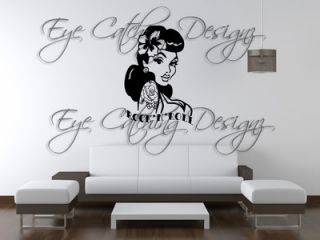 Rockabilly Pin Up Girl Rock N Roll Tattoo Art Wall Decal Vinyl Decor Home