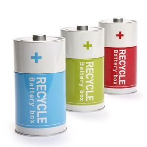 Save Earth Gift Tin Recycle Battery Storage Boxe Decor Home Office Organization